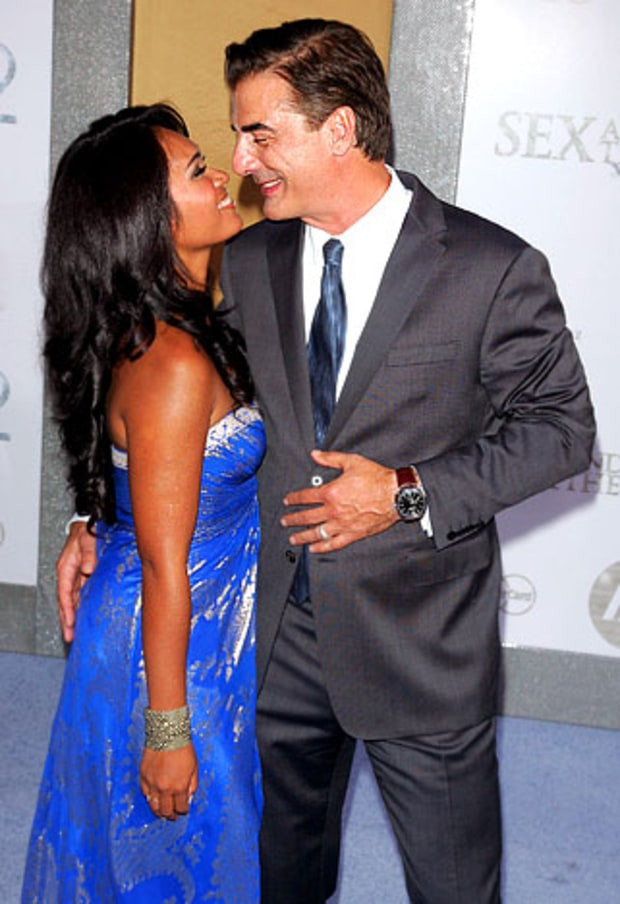 Chris Noth and wife Tara Lynn Wilson
