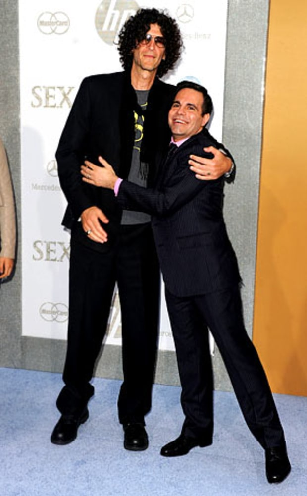Howard Stern and Mario Cantone