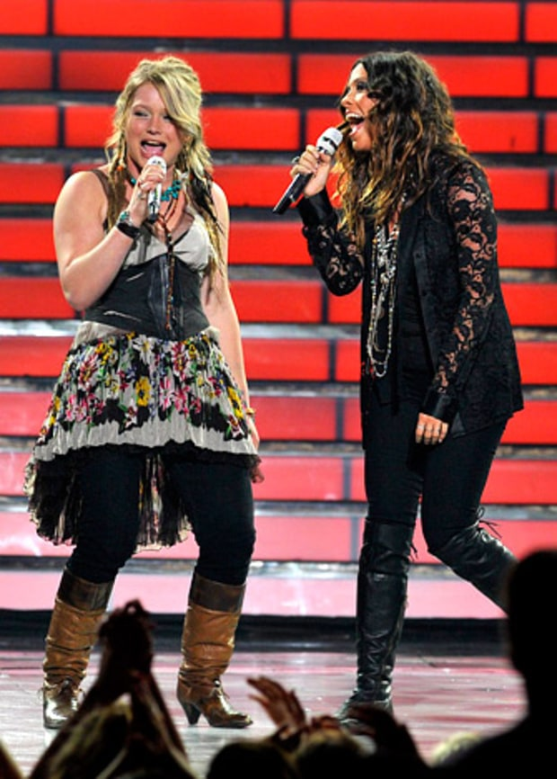Crystal Bowersox and Alanis Morissette
