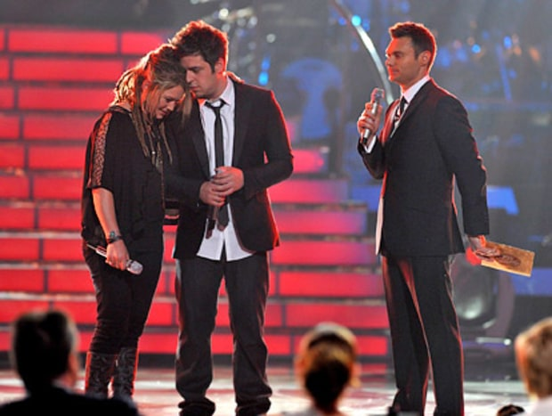 Bowersox, DeWyze and Ryan Seacrest