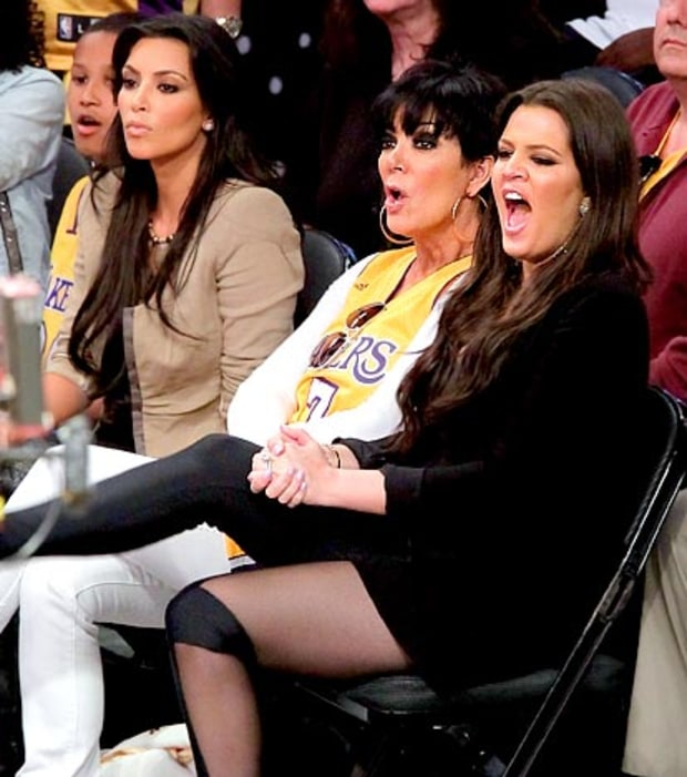 Kim and Kris Kardsahian and Khloe Kardashian Odom