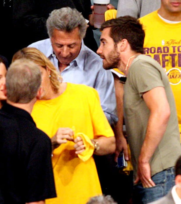 Dustin Hoffman and Jake Gyllenhaal
