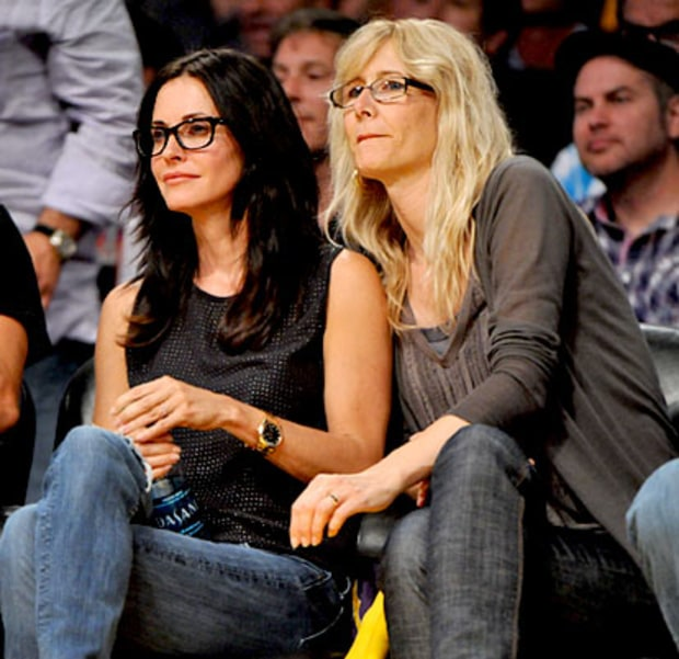 Courteney Cox and Laura Dern