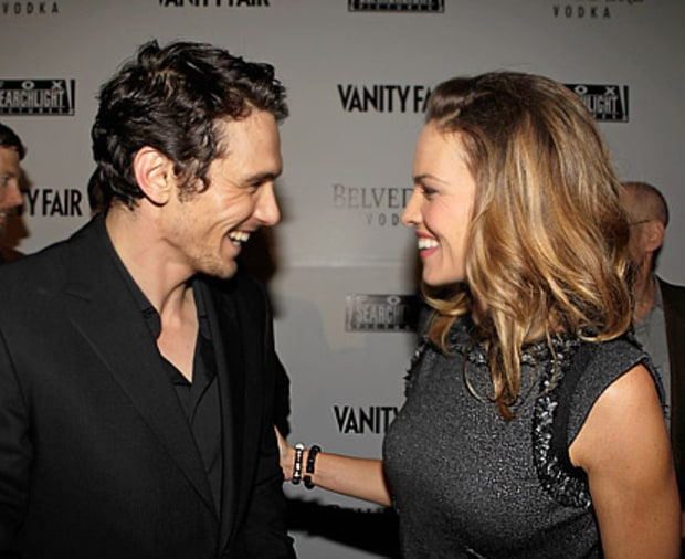 James Franco and Hilary Swank