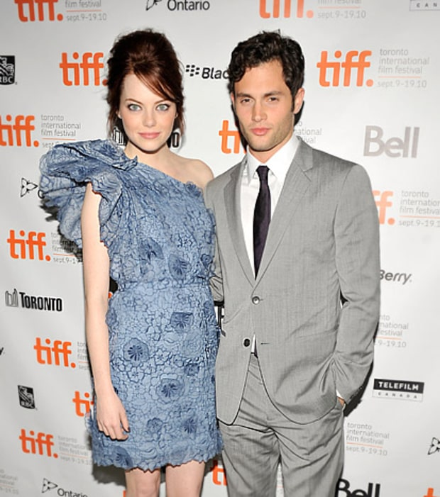Emma Stone and Penn Badgley