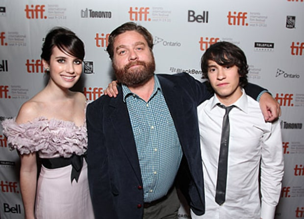 Emma Roberts, Zach Galifianakis and Keir GIlchrist