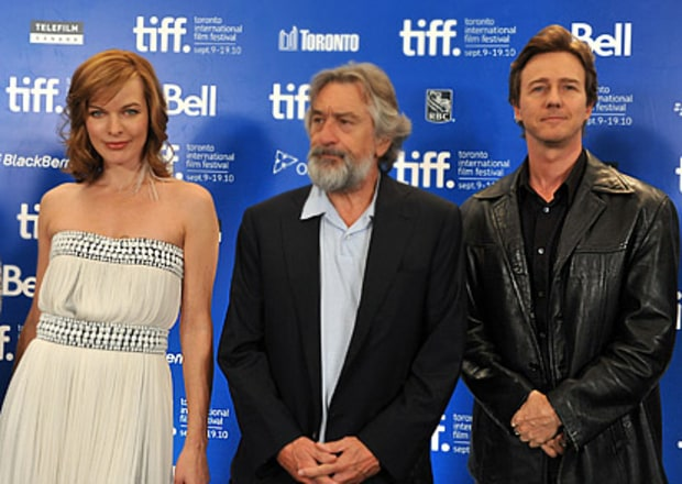 Milla Jovovich, Robert De Niro and Ed Norton