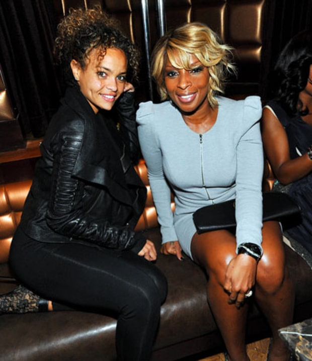 Starshell, left, and Mary J Blige