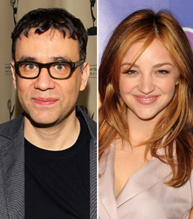 Fred Armisen and Abby Elliot