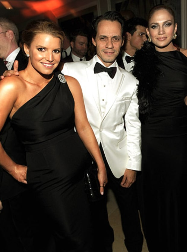 Jessica Simpson, Marc Anthony and Jennifer Lopez