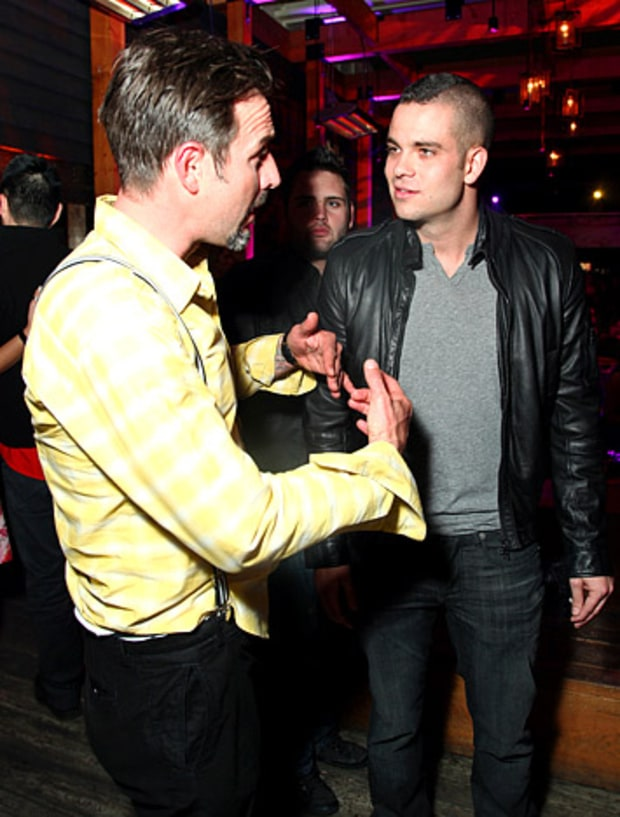 David Arquette and Mark Salling