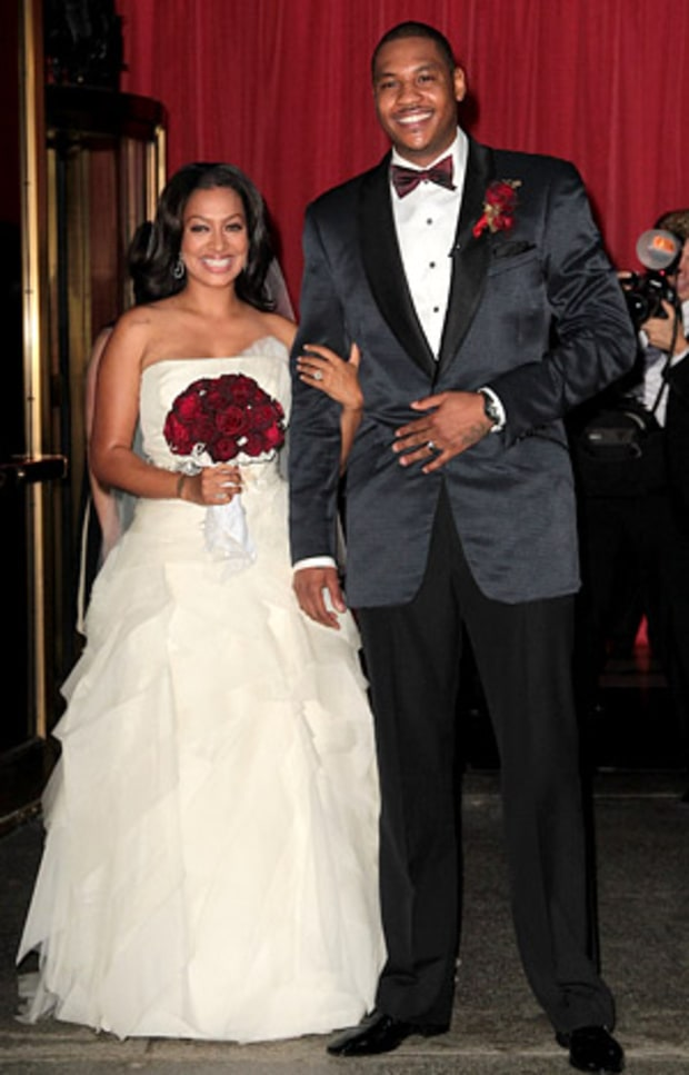 LaLa Vasquez and Carmelo Anthony