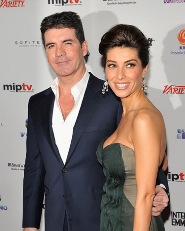 Simon Cowell and Mezhgan Hussainy