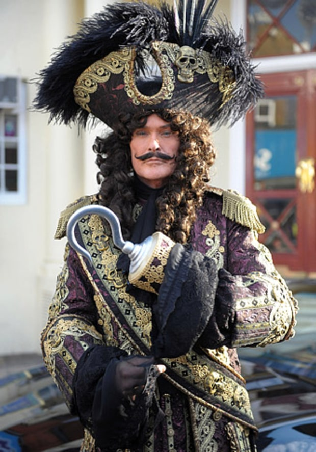 The Hoff as Capt. Hook