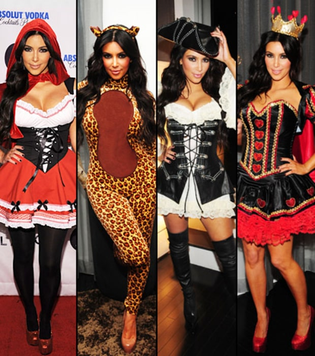 Kim's Halloween Costume Change