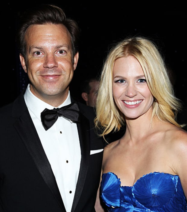 Jason Sudeikis and January Jones