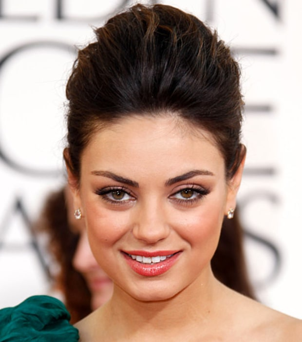 Mila Kunis' Coral Eyes and Lips