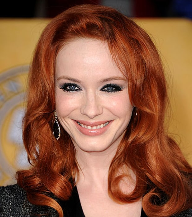 Christina Hendricks' Dramatic Eye Effect