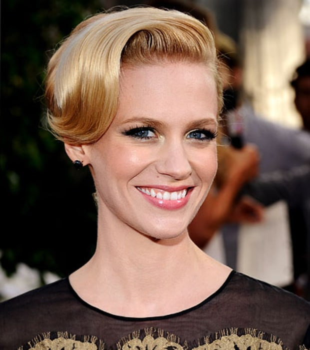 January Jones' Metallic Eyes