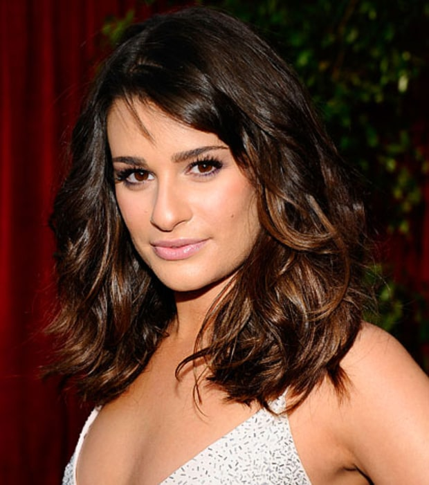 Lea Michele's Soft Smoky Eye and Tousled Waves
