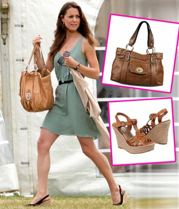 Wedge Sandals & Leather Shoulder Bag