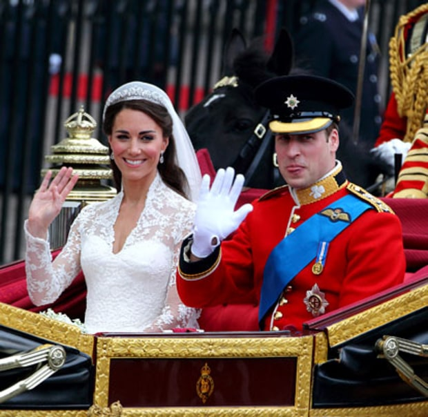 Kate and William's Carriage Sendoff