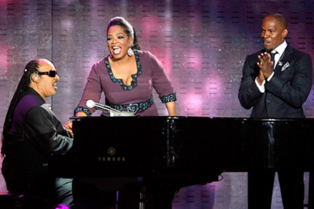 Oprah, Stevie Wonder and Jamie Foxx
