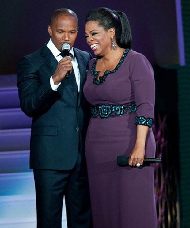 Jamie Foxx and Oprah