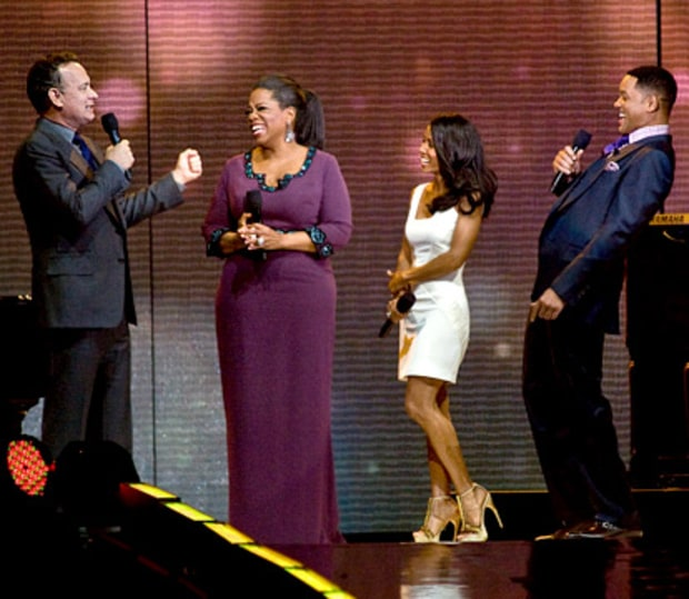 Tom Hanks, Oprah, Jada Pinkett Smith and Will Smith