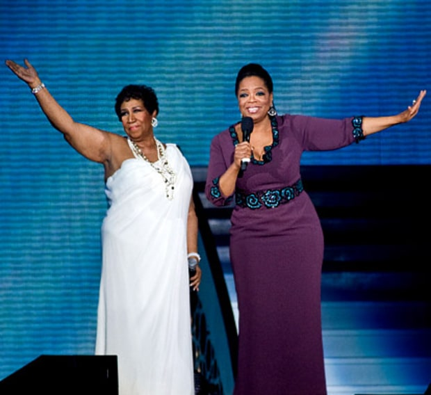 Aretha Franklin and Oprah