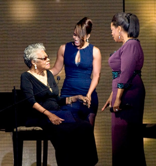 Maya Angelou, Alicia Keys and Oprah