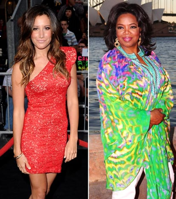 Ashley Tisdale and Oprah Winfrey