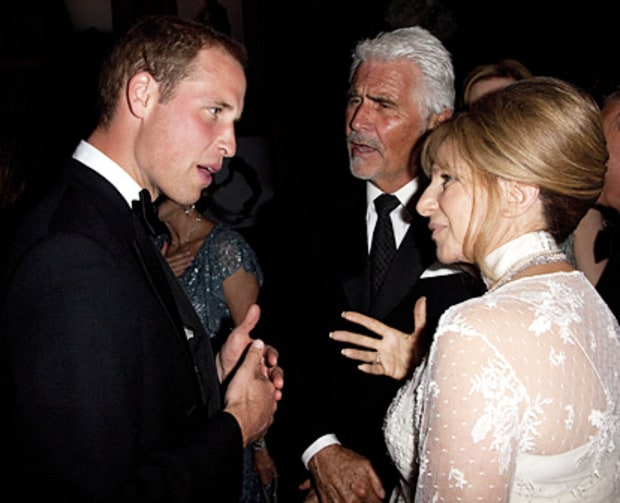 Prince William, James Brolin and Barbra Streisand