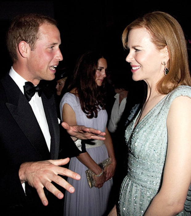 Prince William and Nicole Kidman