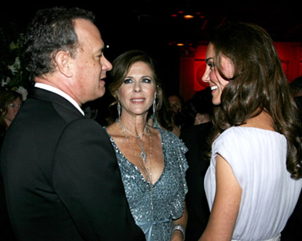 Tom Hanks, Rita Wilson, Duchess Kate