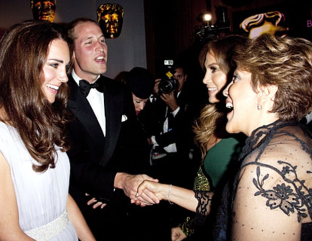 Kate Middleton, Prince William, and Jennifer Lopez