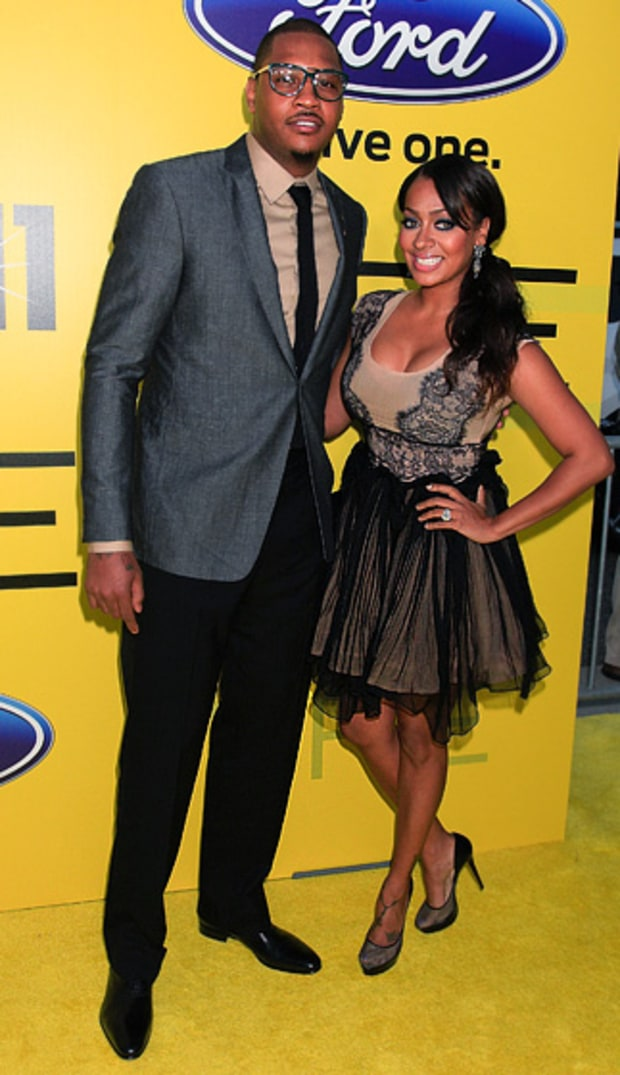 LaLa and Carmelo Anthony, TV star and New York Knicks forward