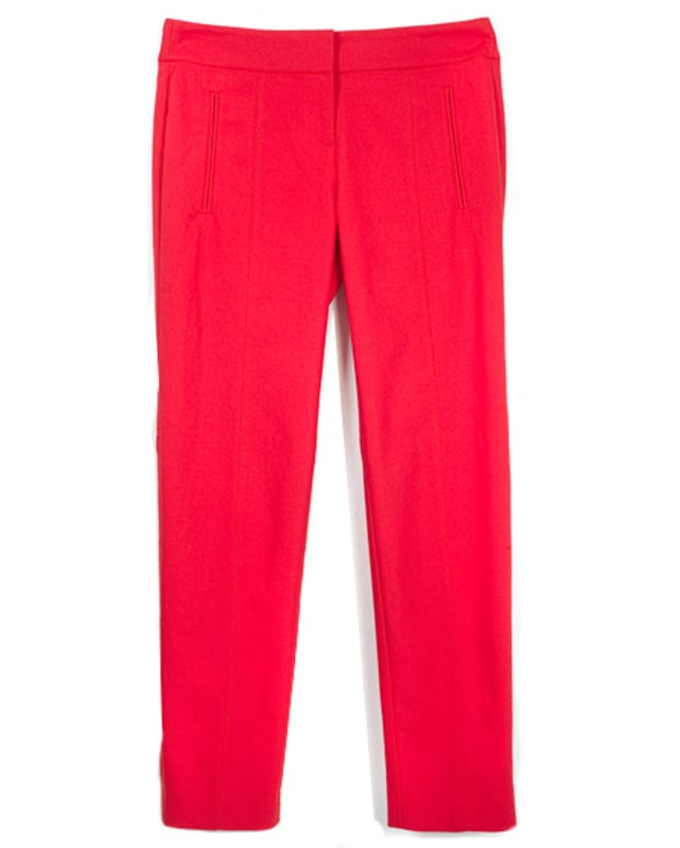 Ann Taylor Red Cropped Pants