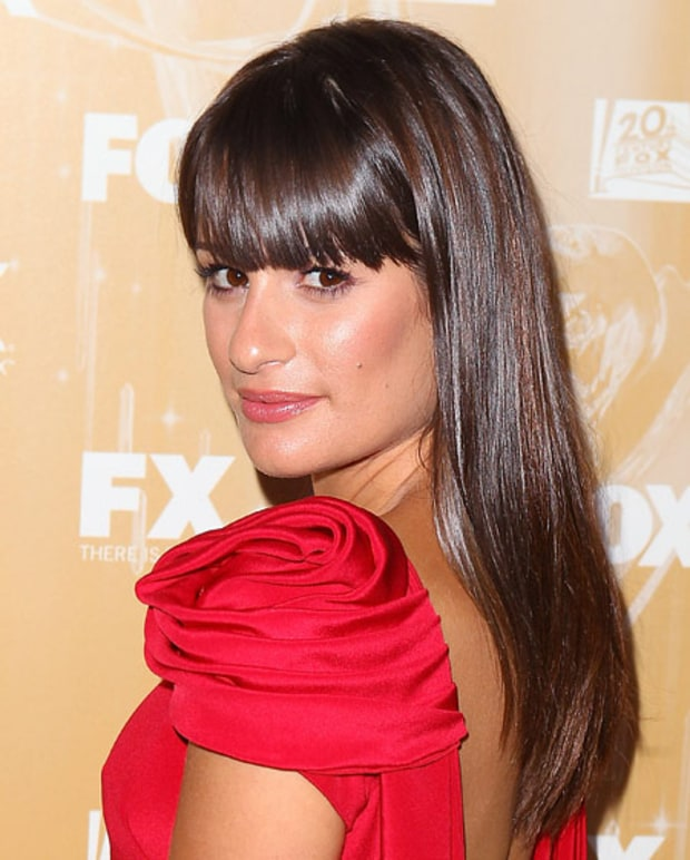 Lea Michele's Shiny Blow-Out