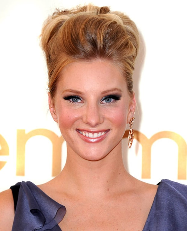 Heather Morris' Pompadour French Twist