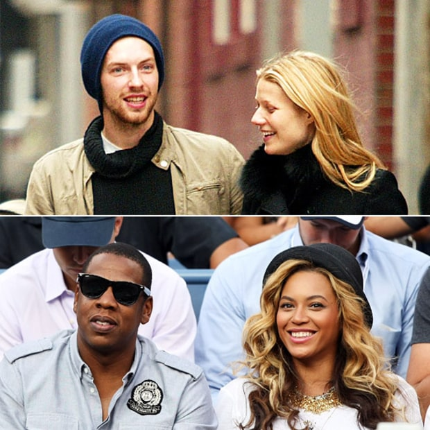 Chris Martin, Gwyneth Paltrow, Jay-Z and Beyonce