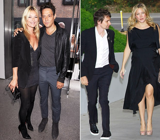 Kate Moss, Jamie Hince, Matthew Bellamy and Kate Hudson