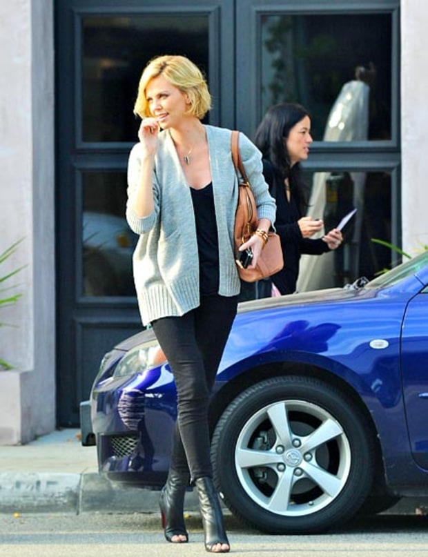 Charlize's Peep Toe Boots
