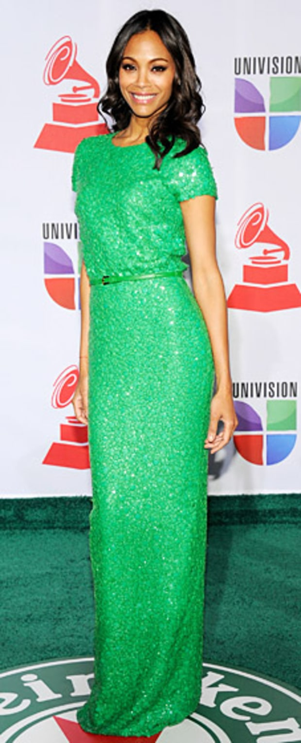 Zoe Saldana at 2011 Latin Grammys
