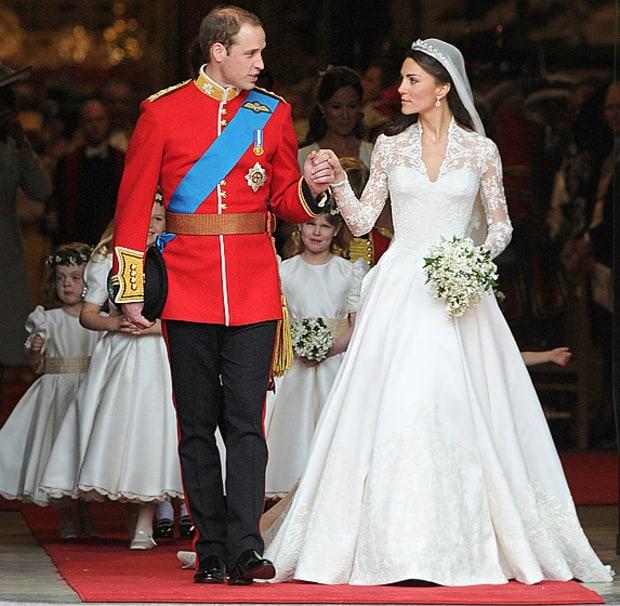 29 Iconic Celebrity Wedding Dresses: Prince William And Kate Middleton