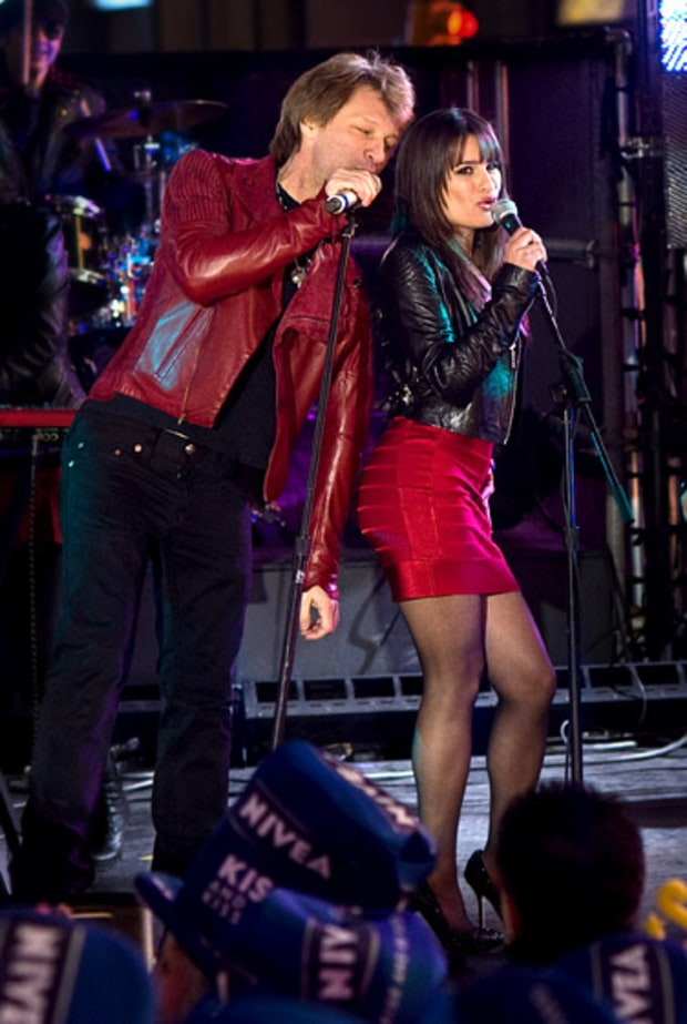 Jon Bon Jovi and Lea Michele