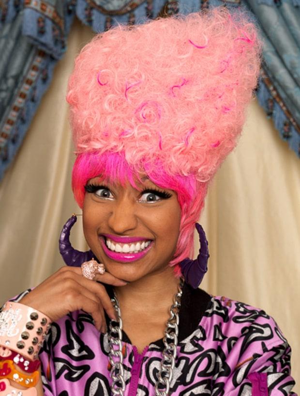 Brilliant June 27 2010 Nicki Minaj39S Craziest Hairstyles Ever Us Weekly Short Hairstyles Gunalazisus