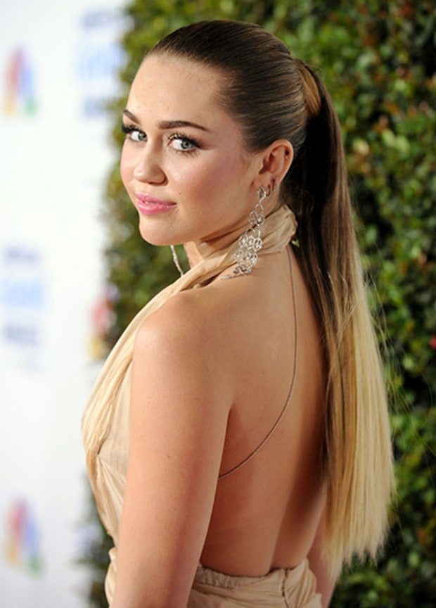 Miley Cleans Up