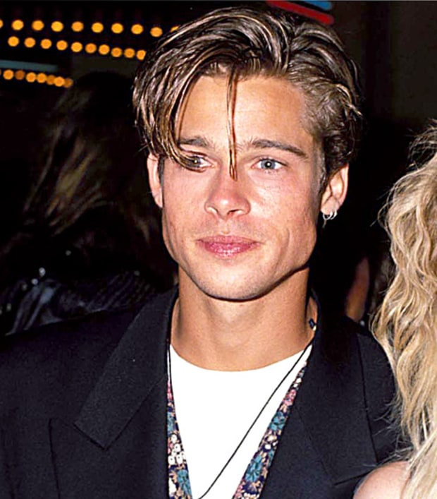 Sept. 9, 1990 | Brad Pitt's Hair Evolution | Us Weekly 1990s Hairstyles Men