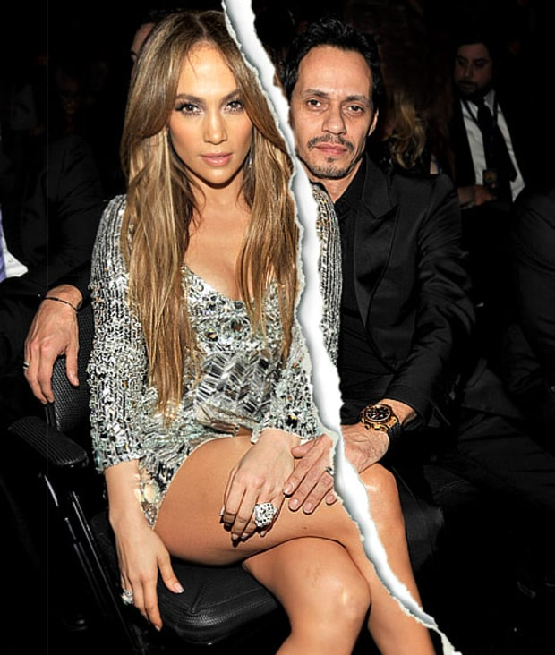 Marc Anthony, Jennifer Lopez Split